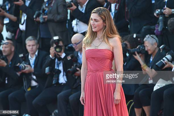 Julie Gayet attends the Opening Ceremony and 'Birdman' premiere during the 71st Venice Film Festival at Palazzo Del Cinema on August 27 2014 in...