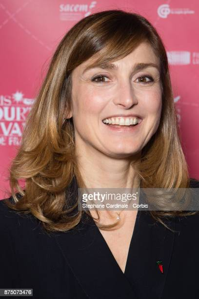Julie Gayet attends the Paris Courts Devant Opening Ceremony at Bibliotheque Nationale de France on November 16 2017 in Paris France