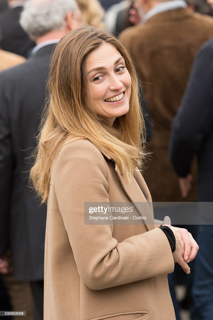 Julie Gayet attends the Remake of the 1st Movie of the Lumiere Brothers , during the 5th Lumiere Film Festival, in Lyon.