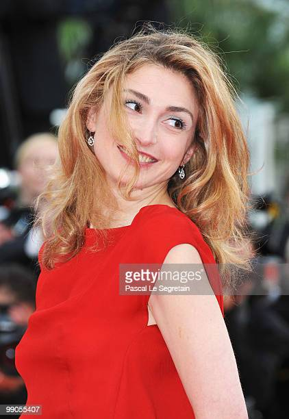 Julie Gayet attends the 'Robin Hood' Premiere at the Palais des Festivals during the 63rd Annual Cannes Film Festival on May 12 2010 in Cannes France