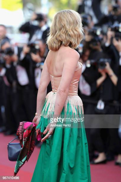 """Julie Gayet attends the screening of """"Ash Is The Purest White """" during the 71st annual Cannes Film Festival at Palais des Festivals on May 11, 2018..."""