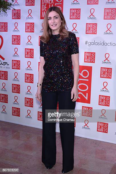 Julie Gayet attends the Sidaction Gala Dinner 2016 as part of Paris Fashion Week on January 28 2016 in Paris France