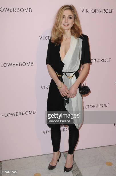 Julie Gayet attends the Victor Rolf 'Flower Bomb' 5th Anniversary during Paris Fashion Week at Hotel Meurice on March 4 2010 in Paris France