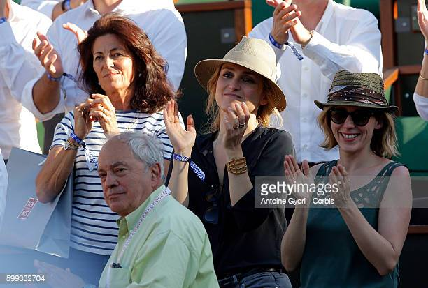 Julie Gayet attends the Women's semi final match on day twelve of the 2015 French Open at Roland Garros on June 4 2015 in Paris France