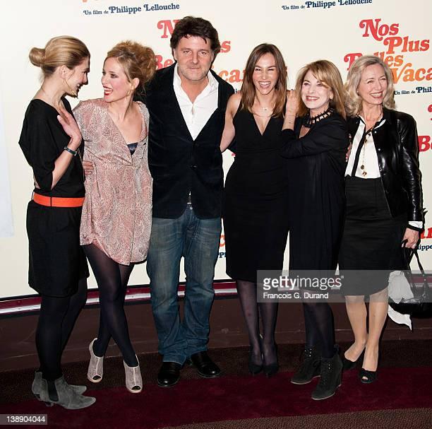 Julie Gayet Julie BernardPhilippe Lellouche Vanessa Demouy Nicole Calfan and Ariele Semenoff attend 'Nos Plus Belles Vacances' Paris Premiere at...