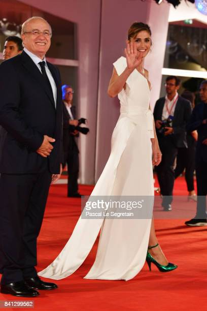 Julie Gayet walks the red carpet ahead of the 'The Insult' screening during the 74th Venice Film Festival at Sala Grande on August 31 2017 in Venice...