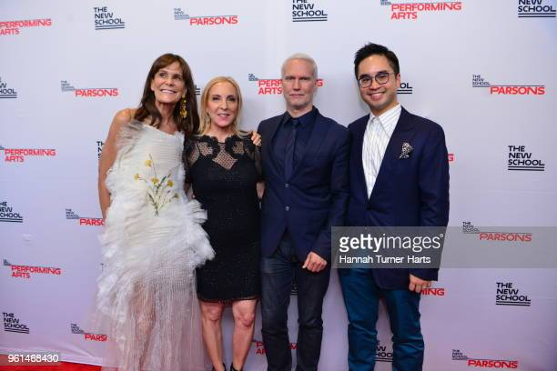 Julie Gilhart Susan Rockefeller and Klaus Biesenbach attend the 70th Annual Parsons Benefit at Pier Sixty at Chelsea Piers on May 21 2018 in New York...