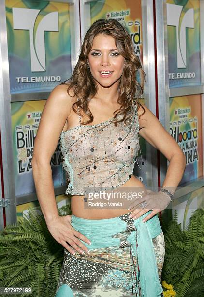 Julie Giliberti during 2005 Billboard Latin Music Awards - Arrivals at Miami Arena in Miami, Florida, United States.