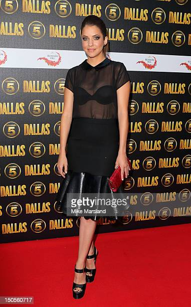 Julie Gonzalo attends party to celebrate the new Channel 5 television series of 'Dallas' at Old Billingsgate on August 21 2012 in London United...