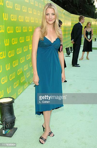 Julie Gonzalo during The CW Launch Party Green Carpet at WB Main Lot in Burbank California United States