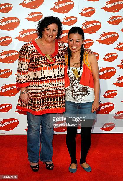 Julie Goodwin and Poh Ling Yeow arrive for the Australian Nickelodeon Kids' Choice Awards 2009 at Hisense Arena on November 13 2009 in Melbourne...