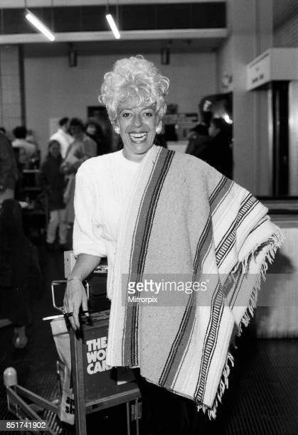 Julie Goodyear at Manchester Airport January 1986