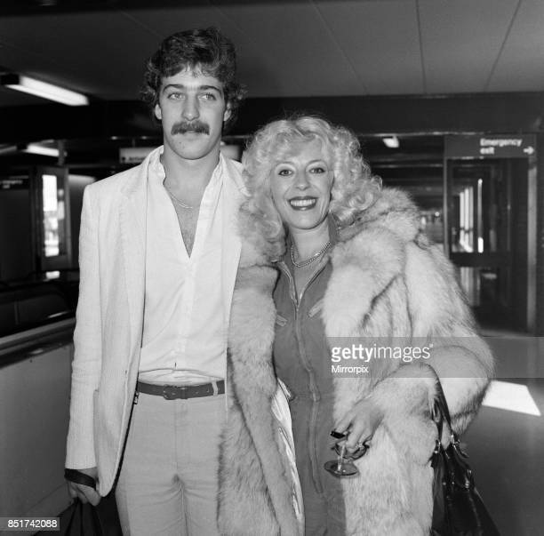 Julie Goodyear Bet Lynch from Coronation Street leaving from Heathrow for Los Angeles with her son Gary Goodyear 15th November 1982