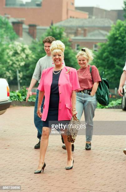 Julie Goodyear is pictured outside the set of 'Coronation Street' greeting fans 10th June 1993Julie Goodyear is pictured outside the set of...