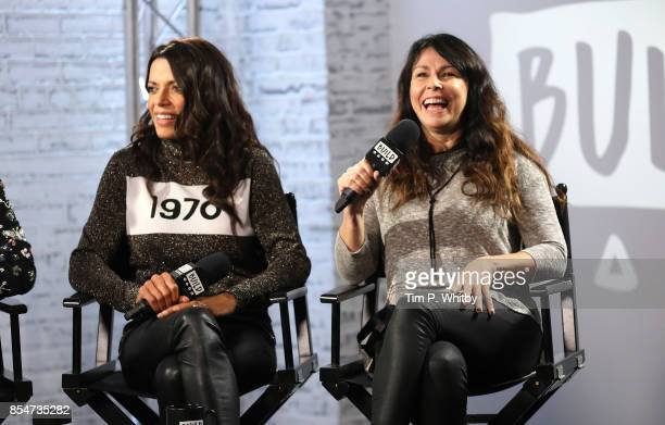 Julie Graham and Jenny Powell discuss the medias role in ageism during a BUILD LND event at AOL on September 27, 2017 in London, England.