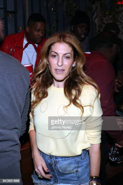 YG Julie Greenwald and Casanova attend the Cardi B Silent Listening Party on April 5 2018 in New York City