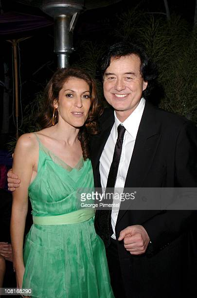 Julie Greenwald and Jimmy Page during Atlantic Records at Warner Music Group 2005 After GRAMMY Awards Party at Pacific Design Center in Los Angeles...