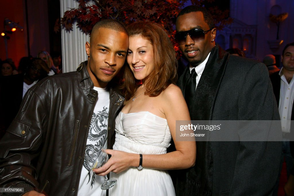 T.I., Julie Greenwald, Atlantic Records President and Sean 'P Diddy' Combs