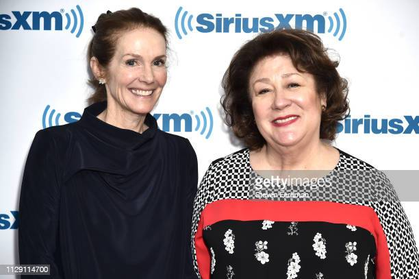 Julie Hagerty and Margo Martindale visit SiriusXM Studios on on March 7 2019 in New York City