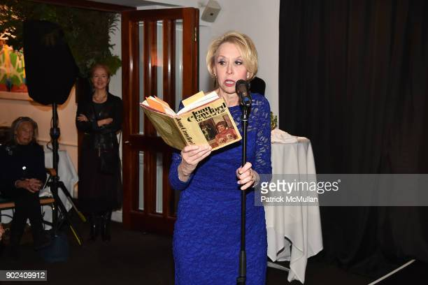 Julie Halston attends Joan Kron's 90th Birthday 'Take My NosePlease' Release Party at Michael's on January 7 2018 in New York City