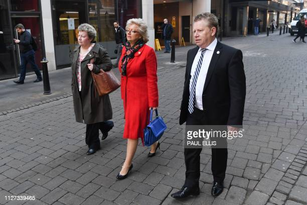 Julie Hambleton Brian Hambleton and Jayne Hambleton siblings whose sister Maxine died in the 1974 Birmingham pub bombings walk together in Birmingham...