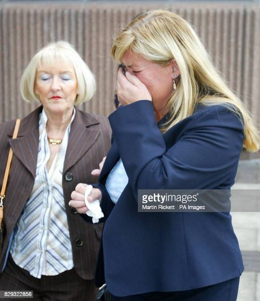 Julie Hanson mother of Tom Hanson who was knocked down and killed breaks down in tears after reading a statment outside Liverpool Crown Court Dr...