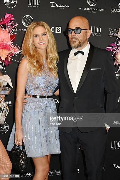 Julie Hantson and Pascal Obispo attend Les Globes de Cristal Awards 11th Ceremony at Lido on January 30 2017 in Paris France
