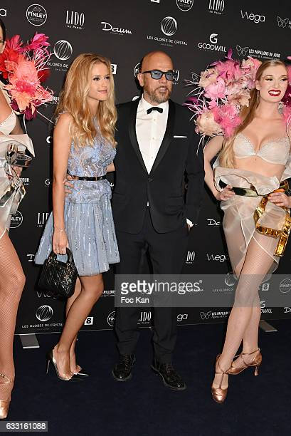 Julie Hantson and Pascal Obispo attend Les Globes de Cristal Awards 11th Ceremony at Lido on January 30 2017 in Paris France 2017