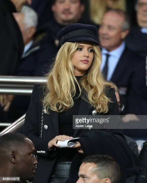 Julie Hantson attends the French Ligue 1 match between Paris Saint Germain and Olympique Lyonnais at Parc des Princes on September 17 2017 in Paris