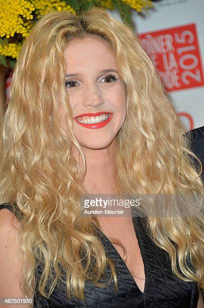 Julie Hantson attends the Sidaction Gala Dinner 2015 at Pavillon d'Armenonville on January 29 2015 in Paris France