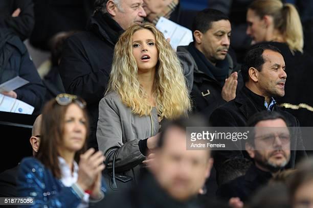 Julie Hantson during the French Ligue 1 match between Paris Saint Germain PSG and OGC Nice at Parc des Princes on April 2 2016 in Paris France