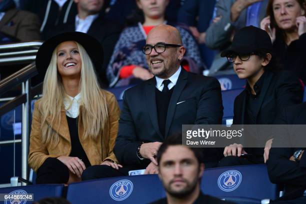 Julie HANTSON / Pascal OBISPO / Sean OBISPO PSG / Toulouse 13eme journee de Ligue 1 Photo Dave Winter / Icon Sport