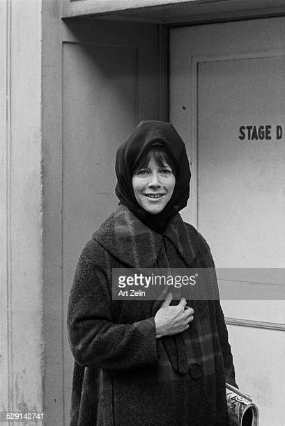 Julie Harris outside a stage door circa 1970 New York