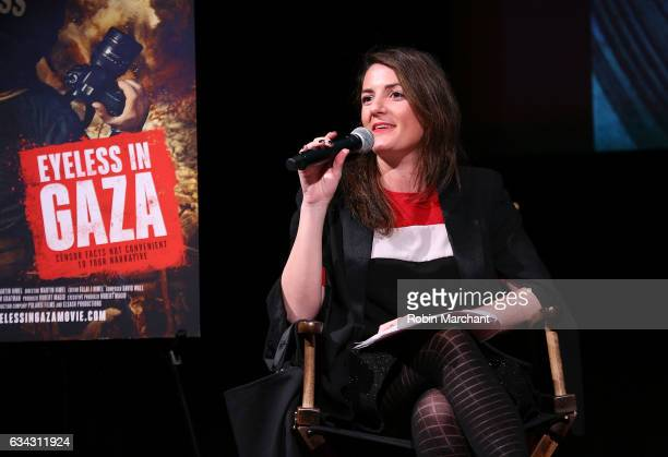 Julie Hazan attends Eyeless In Gaza NYC Premiere Screening QA Panel on February 8 2017 in New York City