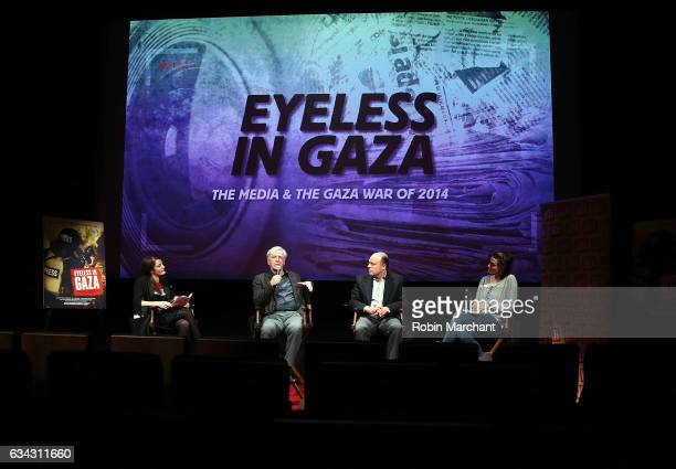 Julie Hazan Robert Magid Morris S Levy and Alison Bailes attend Eyeless In Gaza NYC Premiere Screening on February 8 2017 in New York City