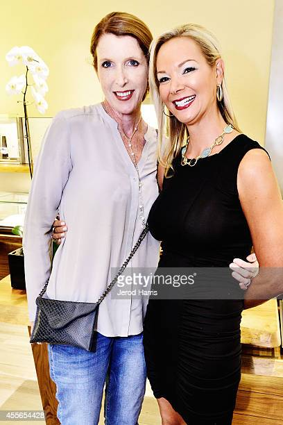Julie Hellmers and Cate Gunn attend David Yurman with RIVIERA host an instore event to celebrate the 'Enduring Style' fall campaign on September 17...