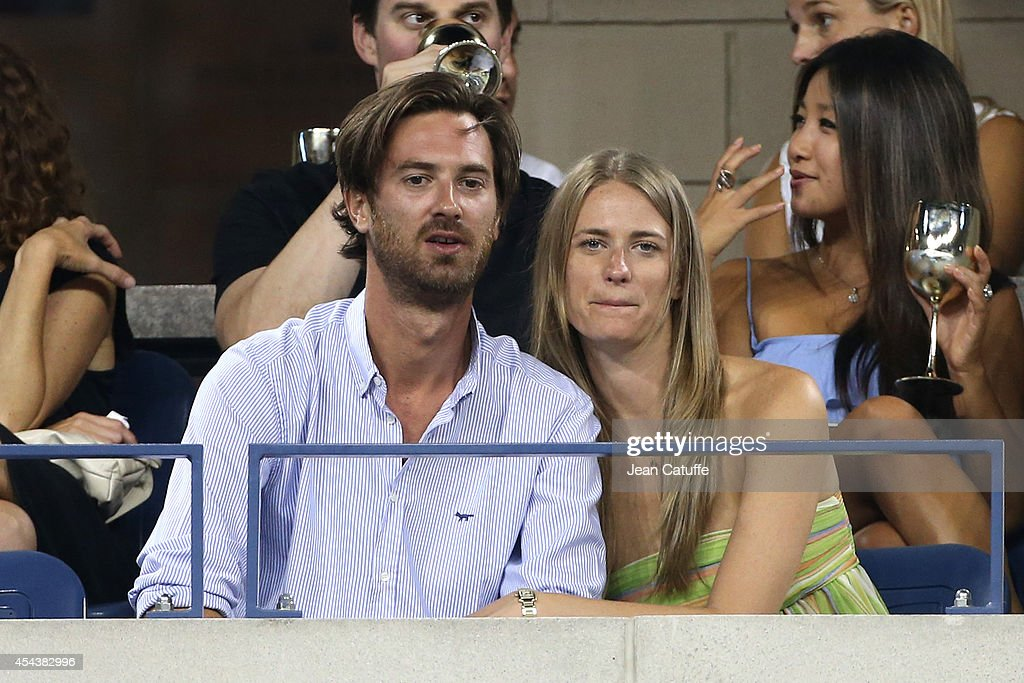 Julie Henderson and her boyfriend attend Day 3 of the 2014 US Open at USTA Billie Jean King National Tennis Center on August 27, 2014 in the Flushing neighborhood of the Queens borough of New York City.