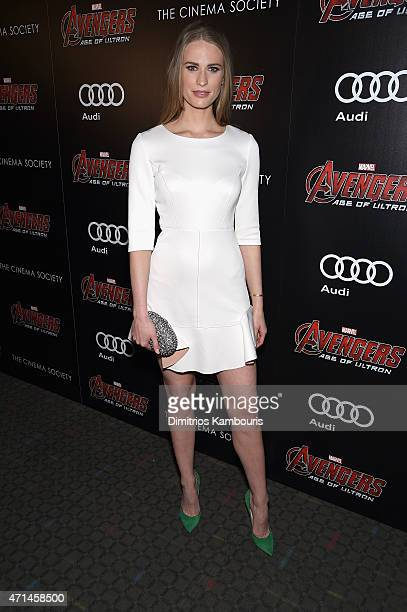 """Julie Henderson attend The Cinema Society & Audi screening of Marvel's """"Avengers: Age of Ultron"""" at SVA Theater on April 28, 2015 in New York City."""