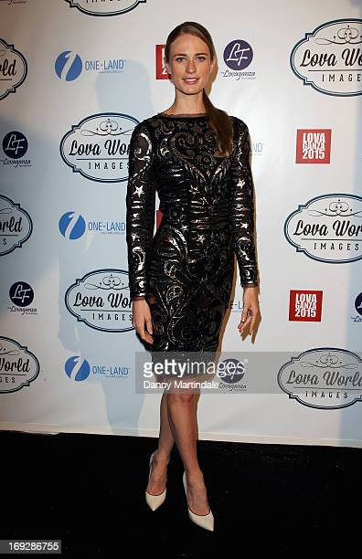 Julie Henderson attends Lova World Images party during the 66th Annual Cannes Film Festival at Baoli Beach on May 22 2013 in Cannes France