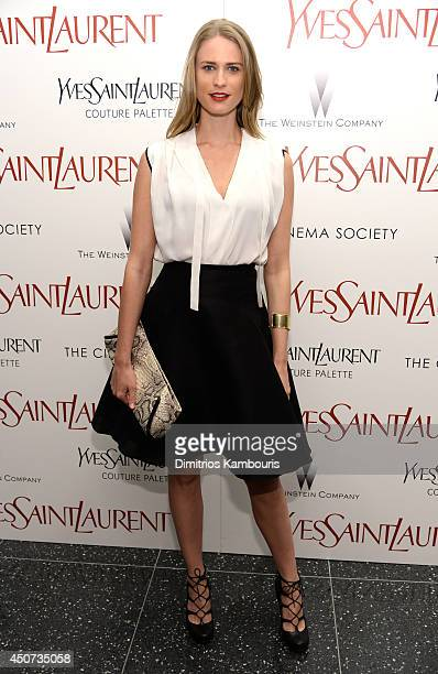 Julie Henderson attends The Weinstein Company's Yves Saint Laurent premiere hosted by Yves Saint Laurent Couture Palette The Cinema Society at Museum...