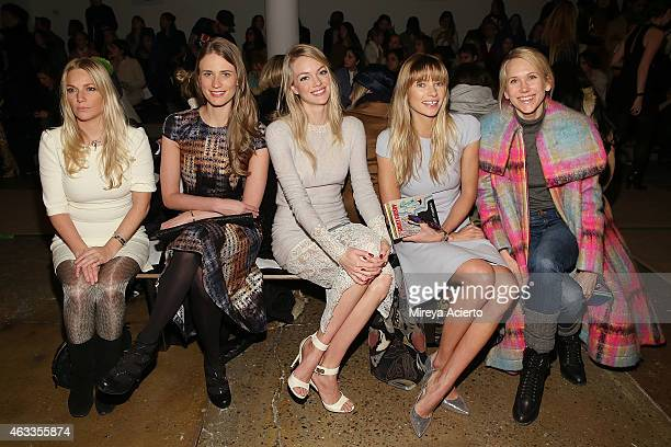 Julie Henderson Lindsay Ellingson Jessica Hart and Indre Rockefeller attend Wes Gordon runway show during MADE Fashion Week Fall 2015 at Milk Studios...