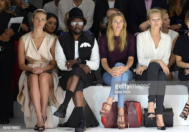 Julie Henderson Will i Am Jessica Hart and Toni Garrn attend the Porsche Design Spring/Summer 2015 fashion show during MercedesBenz Fashion Week...