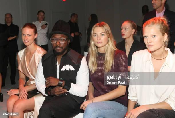 Julie Henderson william Jessica Hart and Toni Garrn attend Porche Design during MercedesBenz Fashion Week Spring 2015 at Center 548 on September 7...