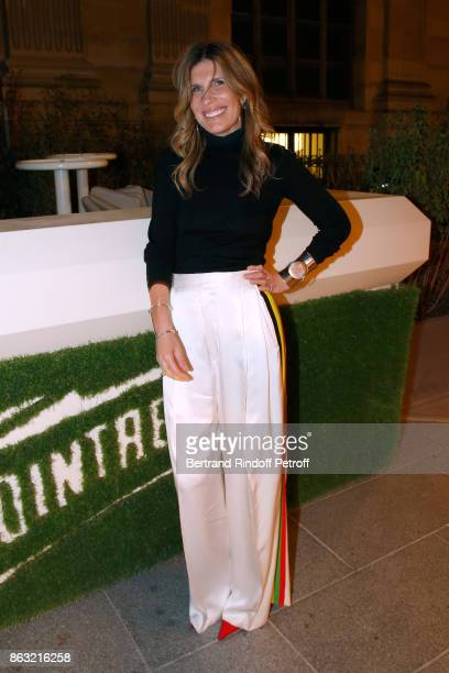 Julie Hillman attends the Dinner for the Art Exhibition Reflexion Redux and the launch of Numero Art With Benjamin Millepied and Barbara Kruger at...