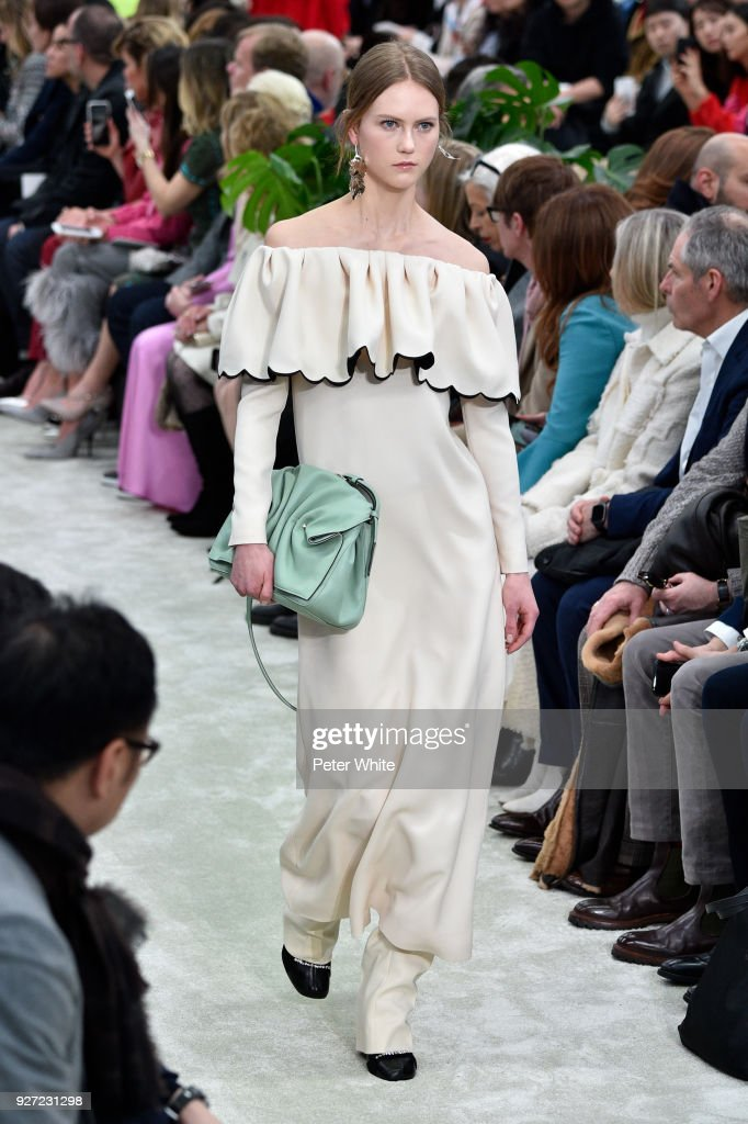 Julie Hoomans walks the runway during the Valentino show as part of the Paris Fashion Week Womenswear Fall/Winter 2018/2019 on March 4, 2018 in Paris, France.