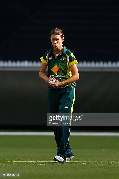 Julie Hunter of Australia prepares to bowl during game two of the women's One Day International Series between Australia and England at Melbourne...
