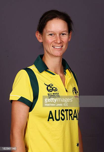 Julie Hunter of Australia Womens Cricket Team poses for a portrait ahead of the Womens ICC World T20 at the Galadari Hotel on September 22 2012 in...