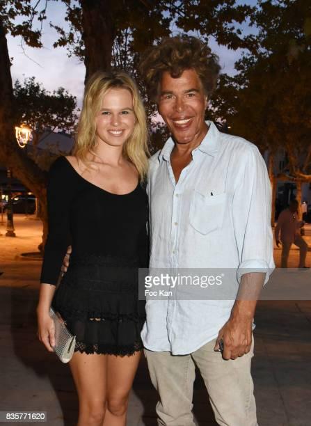 Julie Jardon and Igor Bogdanov attend the Carbone SaintTropez Premiere Outside Arrivals At Cinema La Renaissance Place des LIces on August 19 2017 in...