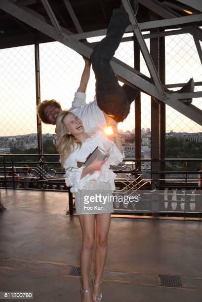 "Julie Jardon and Igor Bogdanov attend the ""Paris Appreciation Awards 2017"" At The Eiffel Tower on July 8, 2017 in Paris, France."