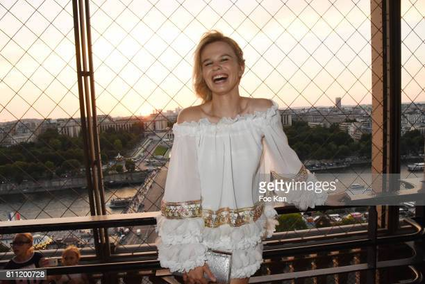 """Julie Jardon attends the """"Paris Appreciation Awards 2017"""" At The Eiffel Tower on July 8, 2017 in Paris, France."""